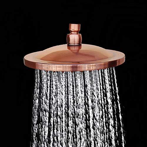 8 Zoll Runde Vintage Retro Badezimmer Regen Duschkopf Antik Rot Kupfer Schlauch Dusche Sprayer Badezimmer Duschkopf