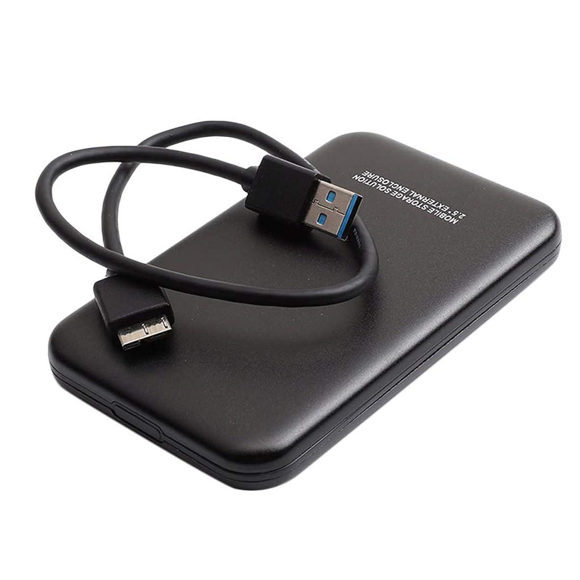 承認ブレース保持2.5インチ SATA USB 3.0 外付ハードディスク HDDエンクロージャー 超高速 ブラック - 1T