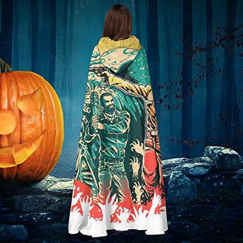 AISFGBJ - Disfraz de Bruja con Capucha, diseo de Rick y Negan Walking Dead, Unisex, para Halloween