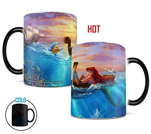 Disney - The Little Mermaid - Falling in Love  Thomas Kinakade - One 11 oz Morphing Mugs Color Changing Heat Sensitive Ceramic Mug  Image Revealed When HOT Liquid Is Added!