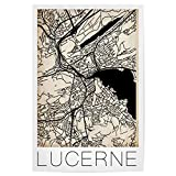 artboxONE Poster 60x40 cm Städte Retro Karte Luzern