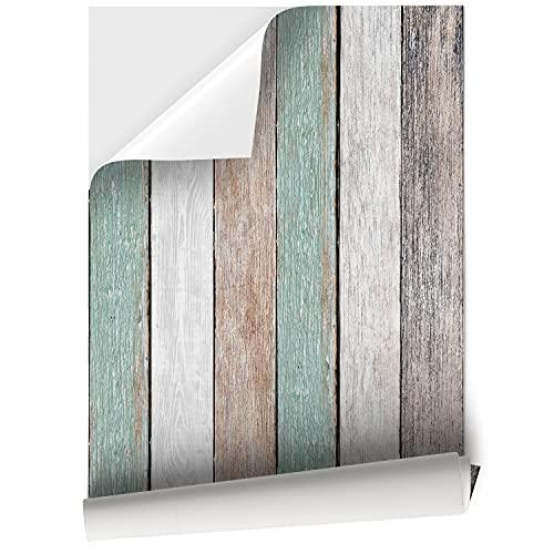 Vinilo Adhesivo para Muebles y Pared, 45 x 200 cm / 45 x 500 cm, Vinilo Impermeable y Resistente, Madera Vintage, VNL-001