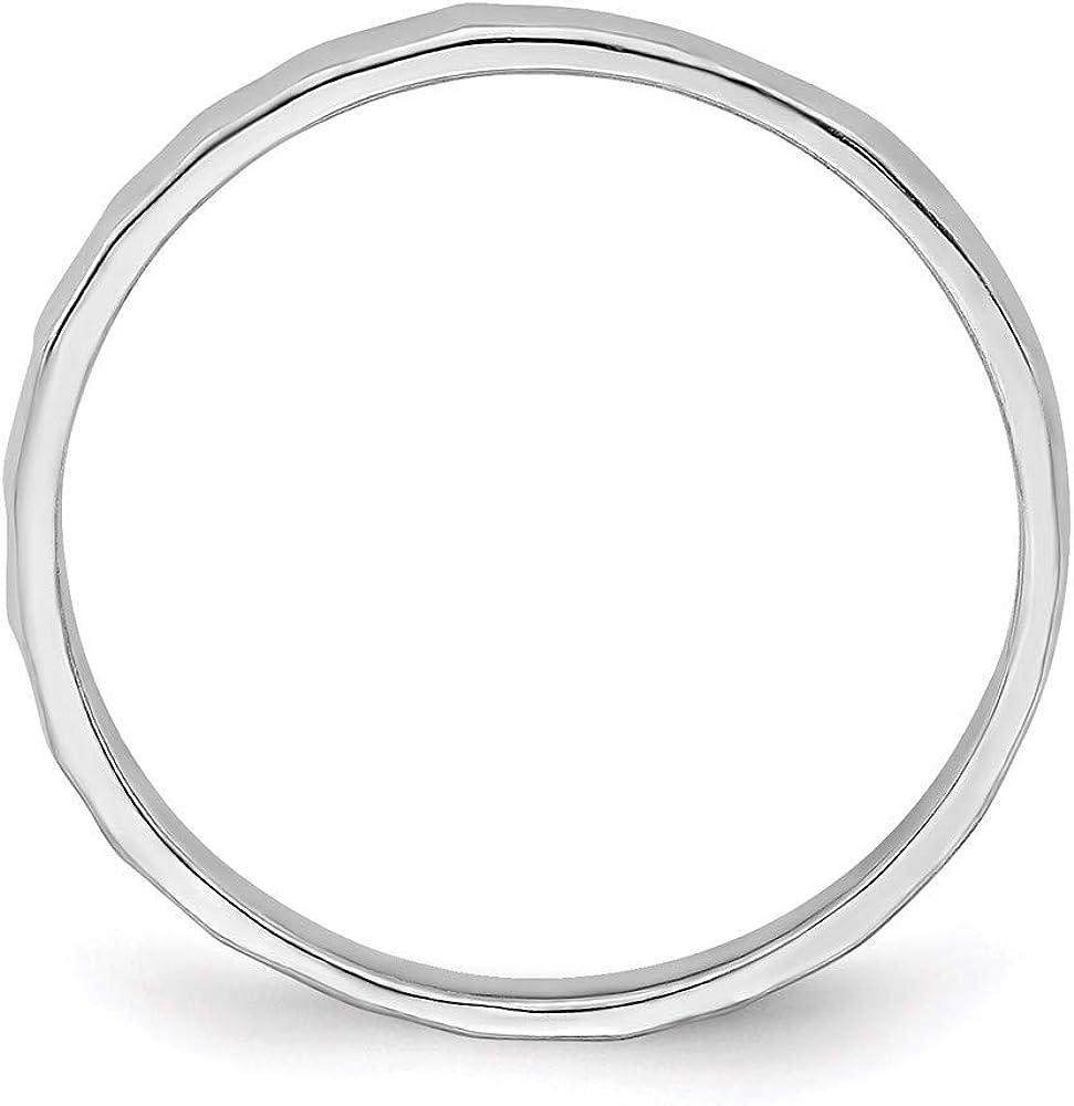 14k White Gold Bamboo Toe Band Ring