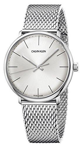 Calvin Klein Unisex Erwachsene Analog Quarz Uhr mit Edelstahl Armband K8M21126