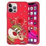 Pnakqil Navidad Funda para Xiaomi Mi 8 Lite 6,26',Antichoque Rojo Suave Silicona Carcasa con Diseño de Patrones Navideños Protectora Case Compatible con Xiaomi Mi 8 Lite, Ciervos 05