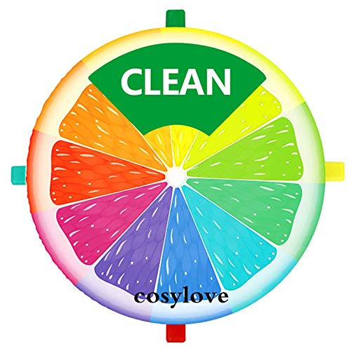 Imán limpio para lavavajillas sucio, aspecto redondo, rotación libre, diseño resistente al agua. Imán antiarañazos para cualquier superficie magnética.