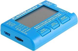 Sangmei Verificador digital de capacidade de bateria Testador de tensão de bateria LCD retroiluminação para vida de LiPo L...