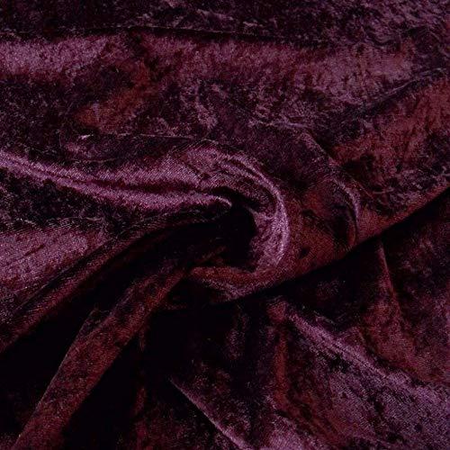 TOLKO 1m Pannesamt als Meterware Edel glänzender Stretch Samt-Stoff zum Nähen Dekorieren | 145cm breit Kleidungsstoff Dekostoff Modestoff Polyesterstoff für Vorhänge Gardinen Bühne (Antik-Bordeaux)