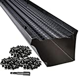 LeafTek 5' x 100' Gutter Guard Leaf Protection in Black | DIY Premium Contractor Grade 35 Year Aluminum Covers | 32'/100'/200' Available in 5 or 6 Inch