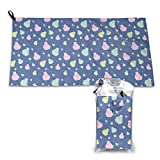BriaPa Microfiber Towel Perfect Travel & Sports &Beach,Natural, Ultra Absorbent,Best for Gym Travel Camp Backpacking Yoga Fitness,Rowing Boats Canoeing Colorful Best Gift-234