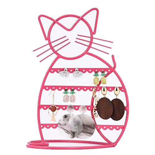 Earring Holder Stand Earring Holder Organizer with B'onus Earring Display Earring Holder in Pink Earrings Holder Cat Shaped