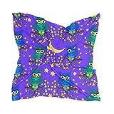 Ahomy Pañuelo cuadrado para mujer, diseño de búhos, con ramas de árbol de la noche, luna y estrella, 60 cm x 60 cm