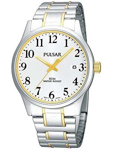 Pulsar Uhren PS9019X1 - Orologio da polso uomo, acciaio inox, colore: multicolore