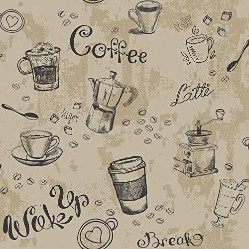 Landhaus Tapeten Italien Kaffee Küche