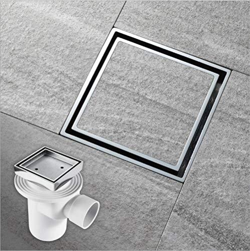 N/M MATHHZM Seitenbodenablauf auf der gleichen Etage, Vollkupfer-Chromdusche, versteckter Bodenablauf, Badezimmertoilette, Deo-Bodenablauf