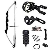 iGlow 55 lb Silver Archery Hunting Compound Bow with Premium Kit 175 150 80 50 40 lbs Crossbow