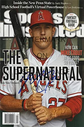 Mike Trout Sports Illustrated Autograph Replica Poster California Angels product image