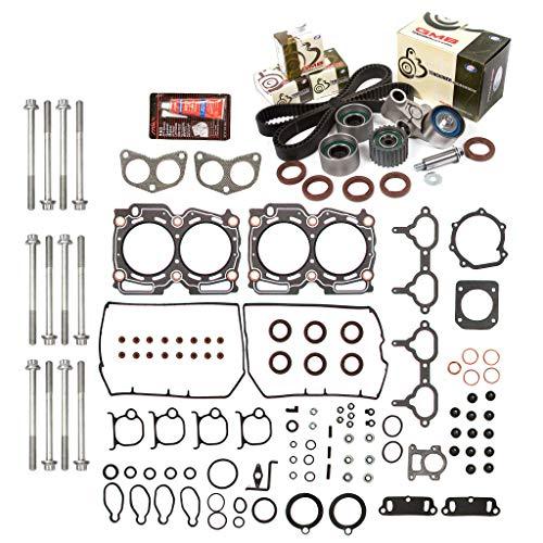 Evergreen HSHBTBK9008 Head Gasket Set Timing Belt Kit Compatible with/Replacement for 98-99 Subaru 2.5 DOHC 16V EJ25