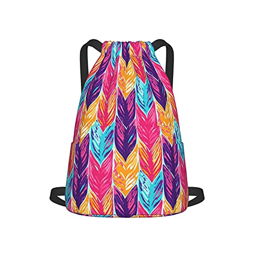 Abstract Exotic Leaves Outdoor Adult Backpack,Casual Double-Shoulder Travel Picnic Bag For Unisex Women Men,Classic Fashion Business Backpack