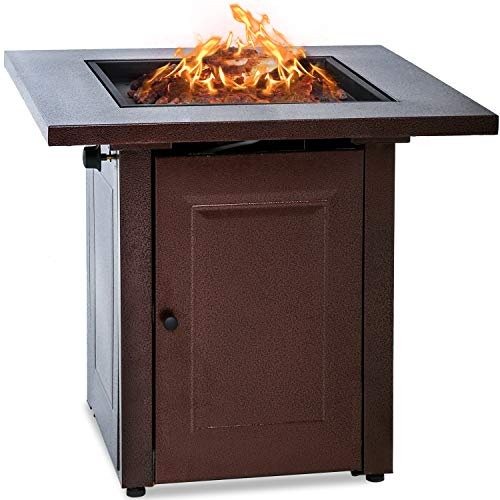 Review Of Vnewone Outdoor Fire Pit Propane Gas firepit Table 48,000 BTU Gas Firepits Grill Outdoor T...
