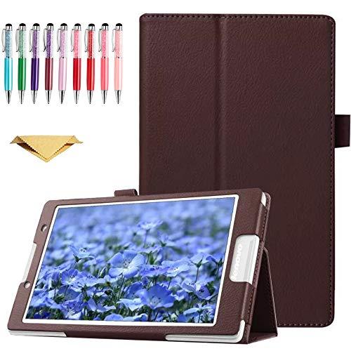 QYiD Funda para Lenovo Yoga Tab 3 10.1 X50L X50F, Ultra Delgada Cover Carcasa con Soporte Función de Auto-Sueño/Estela para Yoga Tab3 10.1-Pulgadas Tablet, Marrón