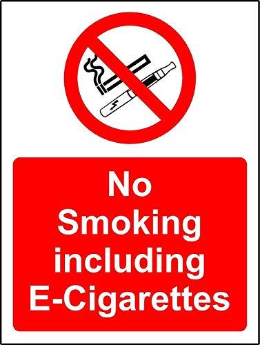 Niet roken - A4 zelfklevende glanzende Sticker - teken X 2