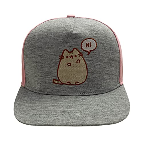 Pusheen Baseball Cap Hi Bye Logo Nue offiziell Grau Snapback