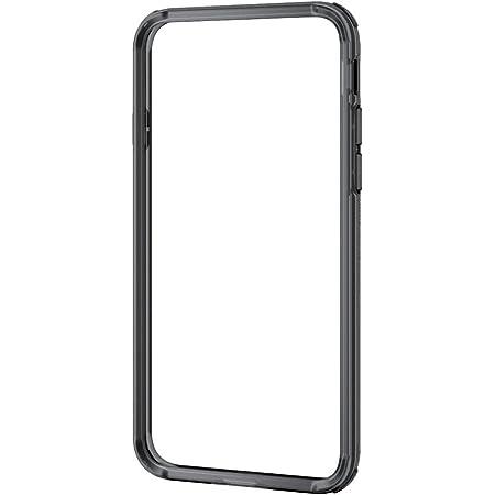 エレコム iPhone 8 ケース カバー バンパー ハイブリッド素材 対衝撃×透明 【端子・ボタン回りまで保護する設計 / ストラップホール付き】 iPhone 7 対応 ブラック PM-A17MHVBBK