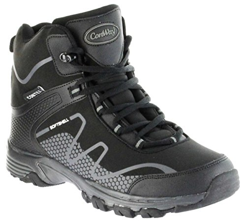 ConWay Outdoor-Wanderschuhe Stiefel Schuhe Black Softshell TEX Damen Herren Riga, Farbe:schwarz, Größe:38 EU