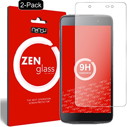 ZenGlass [2 Stück Flexible Glas-Folie kompatibel mit BlackBerry DTEK50 Panzerfolie I Bildschirm-Schutzfolie 9H