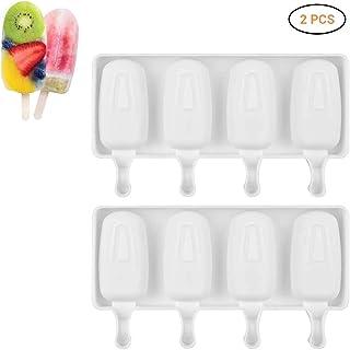 2 moldes de silicona para helado, para congelador, para
