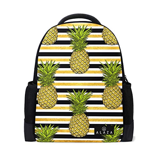 My Daily Tropical Ananas Retro 80S Style Zaino 14' Laptop Zaino Zaino per Viaggi College Scuola