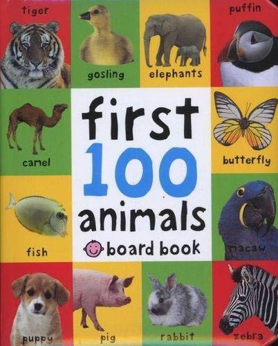 First 100 Animals (First 100 Soft to Touch Board Books), portadas aleatorias
