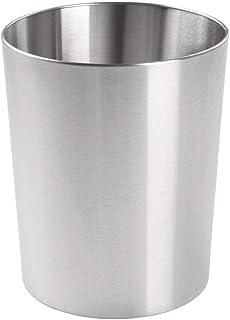 صندوق نفايات معدني من إم ديزاين - سلة لغرفة النوم وسلة ربل لغرفة النوم والحمامات والمنزل والمكاتب - سلة من الفولاذ المقاوم...