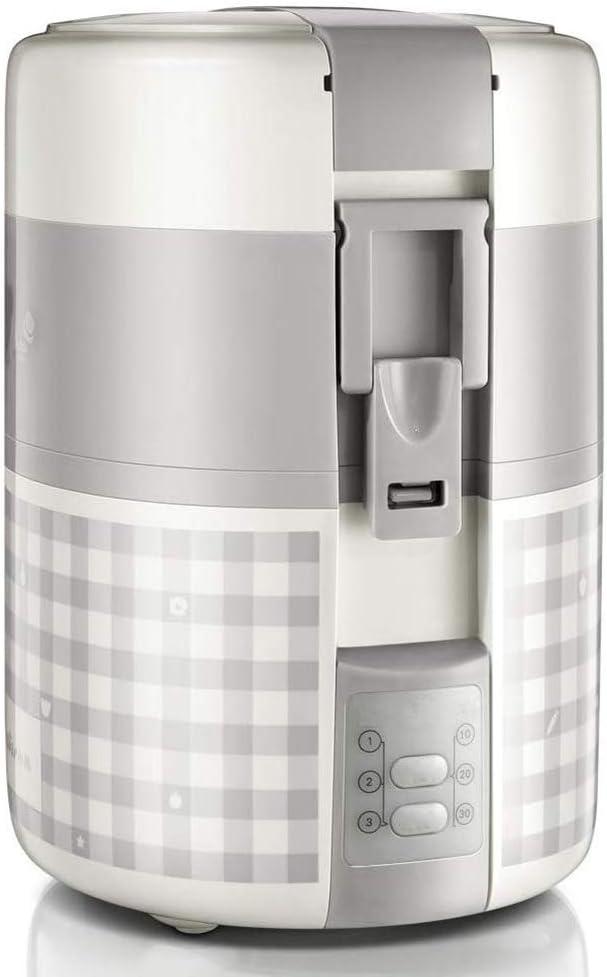 HLDUYIN Fiambrera eléctrica de Gran Capacidad Cita con Aislamiento de vacío temporizado Fiambrera eléctrica de Mantenimiento Fresco para 1~2 Personas portátil en casa