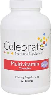 Celebrate Multivitamin Chewable - Grape - 60 Count