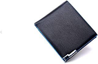 Pulabo Bifold Business Leather Wallet Money Card Holder Coin Bag Purse Gift Black