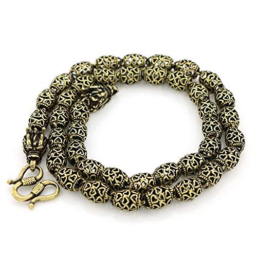 Glover Collar Hueco de Cobre Puro Retro Collar de Grifo Antiguo de latón Hombres y Mujeres Cadena de Bronce Antiguo