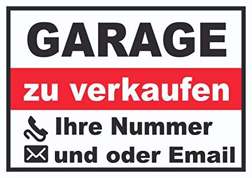 HB-Druck Garage Verkaufsschild Schild A0 Rückseite selbstklebend