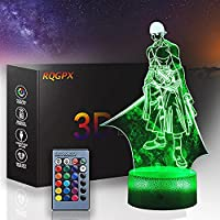 XKUN 中古foronepiece 3D Led Night Light 3D Illusion Lamp Nico Robin 16 Colors Change Decor Lamp With Remote Control For Kids、Gifts For Children,ロロノア・ゾロ