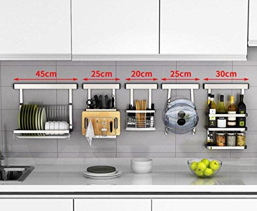 Niet-geperforeerde roestvrijstalen keukenrekken aan de muur gemonteerde opslagrekken kom rekken kruiden planken mes plank keuken benodigdheden Ik