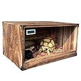 Inicio y cocina Ranas serpiente tortuga lagarto reptiles tanque de madera terrarios Vivarium recinto de la jaula de cría de calefacción Suministros caja de Reptiles de invierno