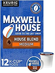 MAXWELL HOUSE Blend Medium Roast K-Cup Coffee Pods, Brown, 12 Count