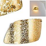 Lampada da parete Anzio con vetro di colore oro strutturato - Applique murale dorata - Luce attacco E27 per interni design o classico - max. 60 Watt