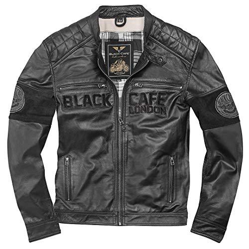 Black-Cafe London New York Motorrad Lederjacke 56