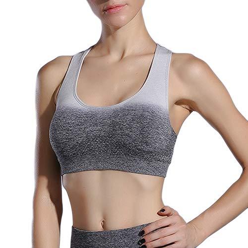 Auifor✿ Dames sportief gevoerde Ombre Seamless Yoga BH met gemiddelde werking workout-loop-beha voor