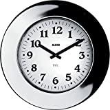 Alessi 11 Momento - Reloj de pared (acero inoxidable 18/10 brillante, movimiento de cuarzo)
