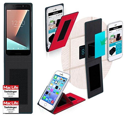 reboon Hülle für Vodafone Smart N8 Tasche Cover Case Bumper | Rot | Testsieger