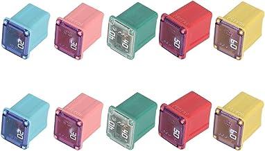 10PCS Jcase Fuse Assortment Automotive Low Profile Box Shaped Mini Jcase Fuse Kit - 20A 30A 40A 50A 60A