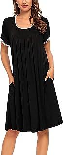Womens Nightgowns Short Sleeve Nightshirts Sleepwear...